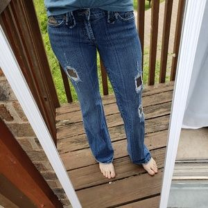 Hotkiss Jean's with patchwork size 3